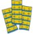 Adesivo Quadrado Minions c/ 30Unid. - Maricota Festas - Imagem 1