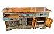 Balcão 3 Gavetas e 6 Portas de Madeira de Demolição - Imagem 2
