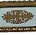 Bandeja Dourada  de Resina com Alça e Vidro no Fundo Decorado - Imagem 2