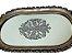 Bandeja Prata Oval com Fundo de Vidro Decorado em Resina - Imagem 3