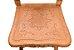 Cadeira Escravo Entalhada com Assento em Couro Chapado Serigrafado - Imagem 2