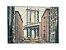 Quadro Cidade 1,00m X 1,40m - Tela Hibrida Impressa com Intervenção de Tinta Acrílica - Imagem 1