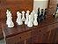 Peça de Xadrez Decorativa em Resina Branca Peão - Imagem 2
