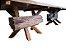 Mesa Rústica com Pranchas de Peroba de Demolição e Pés Diferenciados - Imagem 3