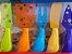 Conjunto de 5 Faquinhas Coloridas para Queijo - Imagem 2