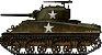 Tanque Sherman M4A3 Academy 1/35 MONTADO - Imagem 1