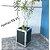 Vaso cachepot  Preto C/ detalhe em espelho -F81 - Imagem 3