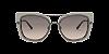 Giorgio Armani AR6090 Matte Gunmetal/Top Beige Azure Lentes Brown Gradient - Imagem 2