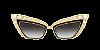 Dolce & Gabbana DG2254H Gold/Black Lentes Grey Gradient - Imagem 2