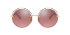 Dolce & Gabbana DG2262 Gold/Pink Lentes Pink Mirror Silver Gradient - Imagem 2