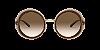 Dolce & Gabbana DG6127 Transparent Brown Lentes Brown Gradient - Imagem 2