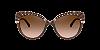 Dolce & Gabbana DG6135 Brown Transparent Lentes Brown Gradient - Imagem 2