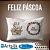 Capa de Almofada Feliz Páscoa Branco - Imagem 1