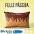 Capa de Almofada Feliz Páscoa Chocolate - Imagem 1