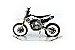 Moto miniatura Husqvarna Réplica - Imagem 1