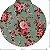 Pano de Mel Floral Azul Kit com 4 - Imagem 3