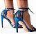 Cecconello Sandália Metalizada Azul Amarração 1475006-2 - Imagem 3