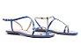 Schutz Sandália Rasteira Curves Verniz Blue S0109302920033 - Imagem 2