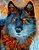 Placa Decorativa (Lobo 01) em Cerâmica Tamanho A3 - (297mmx420mm) - Imagem 1