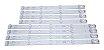 Kit Barra de LED TV TCL Toshiba L55S4900FS, L55S4900, 55D2900, L55P2, L55E5800A - Imagem 2