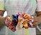 Scrunchie Tie Dye Laranja Veludo - Imagem 3