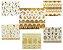 Adesivos 3D dourados de unha  - Imagem 1