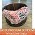 Layer Irregular de Merino Rosa com Cinza - Imagem 1