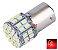 LAMPADA 50 LED BA15S 1 POLO P21W 1156 1141 VERMELHO 12V - Imagem 1