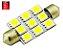 LAMPADA TORPEDO 9 LED C5W 39 MM VERMELHO 12V - Imagem 1