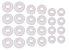 Kit 12 Pares Borracha Fone Ouvido Com 3 Tamanhos 9-11-12mm Branca - Imagem 1