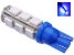 Lampada T10 13 Led W5w Azul 5050 12v - Imagem 1