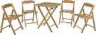 Conjunto beer teca 1mesa 4 cadeiras Tramontina -10630/066 - Imagem 1