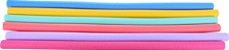 Kit com 5 Bóias Espaguete Flutuador 165 x 6,5 cm Diversas Cores - Imagem 1