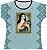 Blusa Feminina bata Santa Teresinha Rainha do Brasil - Imagem 1