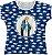 Blusa Feminina bata Nossa Senhora das Graças Rainha do Brasil - Imagem 1