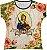 Blusa Feminina bata Santa Luzia Rainha do Brasil - Imagem 1