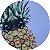 Sousplat 4 unid.  Abacaxi (Capa + MDF) cod.28 - Imagem 3