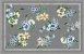 Toalha de Mesa  Floral cinza - Tecido com Impermeabilidade - Imagem 1