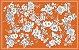 Toalha de Mesa Floral laranja - Linho - Imagem 4