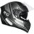 Capacete GP Tech V128 Faster Com Viseira Solar Matte - Cinza - Imagem 1