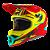 Capacete O'Neal 3Series Helmet Riff 2.0 - Vermelho/Amarelo - Imagem 2