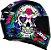 Capacete Axxis Eagle Skull Gloss - Preto/Azul - Imagem 8