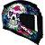 Capacete Axxis Eagle Skull Gloss - Preto/Azul - Imagem 1