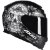 Capacete Axxis Eagle Skull Matte - Preto/Cinza - Imagem 1