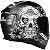Capacete Axxis Eagle Skull Matte - Preto/Cinza - Imagem 7