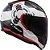 Capacete LS2 FF353 Rapid Ghost - Branco/Preto/Vermelho - Imagem 1