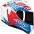 Capacete Axxis Draken Z96 Gloss - Branco/Vermelho/Azul - Imagem 1