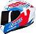 Capacete Axxis Draken Z96 Gloss - Branco/Vermelho/Azul - Imagem 2