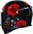 Capacete Axxis Eagle Evo Flowers Gloss - Preto/Vermelho - Imagem 4
