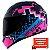 Capacete Norisk FF391 Stunt Pixel Matte - Preto/Azul/Rosa - Imagem 2